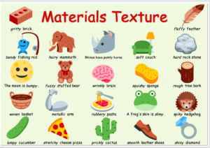 ESL Colorful Texture Poster, Worksheet, label set, objects cards, PYP Science