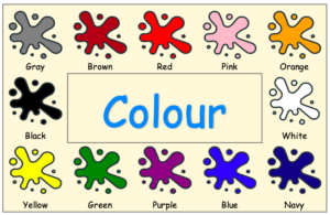 ESL Colorful color / colour Poster, Worksheet, label set, PYP Language, Art
